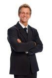 postawa biznes pozytywnego mężczyzna kostium Fotografia Stock