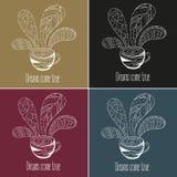 postawił herbaty kawy Sen przychodzą prawdziwego tekst Royalty Ilustracja