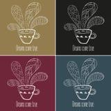 postawił herbaty kawy Sen przychodzą prawdziwego tekst Ilustracji