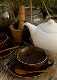 postawił ziołowej herbaty. Fotografia Stock