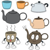 postawił herbaty kawy ilustracja wektor