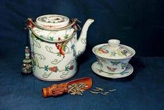 postawił porcelanowy herbaty Zdjęcie Royalty Free