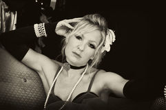 postawy blondynki sepia Zdjęcie Royalty Free