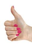 postawy gesta pozytywu kobieta Fotografia Royalty Free