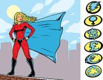 postawy superheroine Zdjęcia Stock