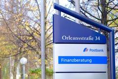 Postbank Finanzberatung Fotos de archivo