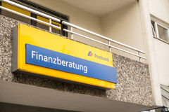 Postbank Finanzberatung Royalty Free Stock Images