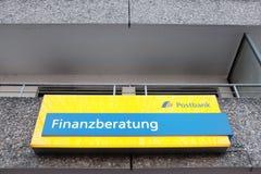 Postbank Finanzberatung Stock Image