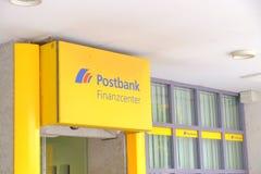 Postbank Finanzcenter Arkivfoton