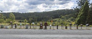 Postbestelling langs de Weg van New England stock afbeeldingen