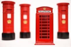 Postbox и телефонная будка Лондона Стоковые Фото