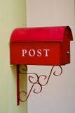 Postbox auf der Wand Lizenzfreies Stockbild
