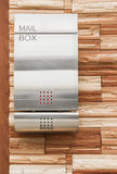 Postbox on brick wall Stock Image