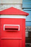 Postbox. Close up of a old red postbox Royalty Free Stock Photos