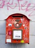 postbox czerwieni ulica Zdjęcia Royalty Free