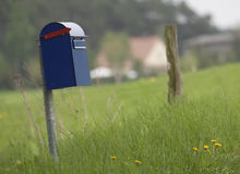 Postbox in a field Royalty Free Stock Photos
