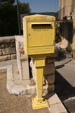 Postbox in France royalty free stock image