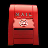 Postbox isolated on black Royalty Free Stock Photo