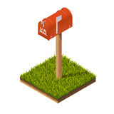 Postbox Isometric Illustration Royalty Free Stock Photo