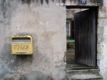 The postbox in La Rochelle Royalty Free Stock Photos