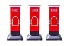 Postbox lokalisierter weißer Hintergrund Lizenzfreies Stockfoto