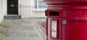 Postbox in Londen Stock Foto's