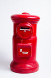 Postbox miniature. Miniature postbox and savings bank Stock Photos
