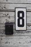 Postbox- och husnummer Arkivfoton