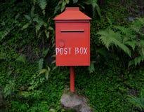Postbox rosso Fotografia Stock
