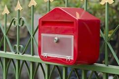 Postbox schuine hoek Stock Afbeelding
