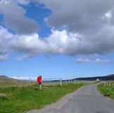 Postbox on South Uist Royalty Free Stock Images