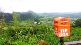 postbox sull'alta montagna di angolo di vista all'inverno immagine stock libera da diritti