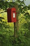 Postbox van het platteland Stock Afbeeldingen