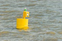 Postbox. On the water elbe, germany Stock Photography