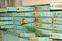 Postboxes в покинутом здании в зоне Чернобыль Стоковые Изображения