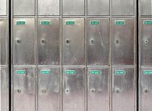 postboxes стальные Стоковое Фото