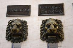 Postboxes h в Fuengirola на Косте del Sol Испании Стоковая Фотография