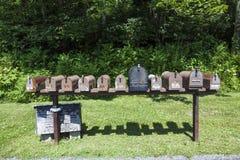 Postboxes i shenandoahmedborgare arkivfoto