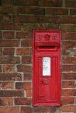 postboxvictorianvägg royaltyfri fotografi