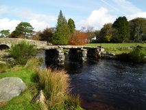 Postbridge Clapper Bridge , Dartmoor , Devon Stock Photos