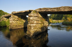 Postbridge Clapper Bridge Stock Images