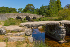 Postbridge Dartmoor National Park Devon England UK Royalty Free Stock Photos