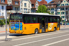 PostBus in the city of Solothurn, Swizerland Royalty Free Stock Photo