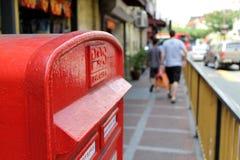 Postbus naast de weg bij pasar seni Maleisië Royalty-vrije Stock Afbeeldingen
