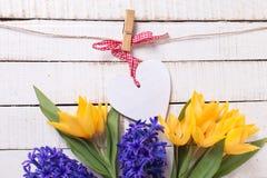 Postcaed con el corazón decorativo Fotos de archivo libres de regalías