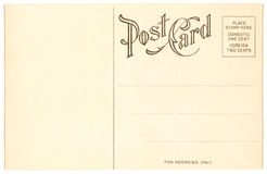 Postcard - 1904 Stock Photography