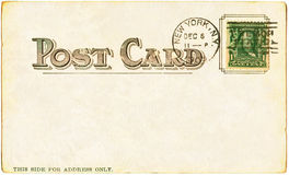 Postcard - 1905 Royalty Free Stock Image