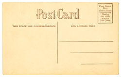 Postcard - 1906. Postcard from 1906 with great typesetting royalty free stock images