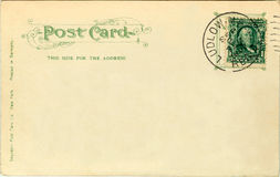 Postcard - 1907. Postcard from 1908, posted Ludlow, MA royalty free stock photos