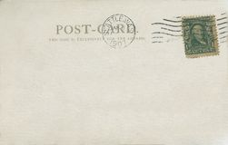 Postcard 1907. Vintage postcard postmarked 1907 royalty free stock photo